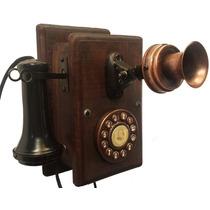 Telefone Antigo Nelphone De Parede Mogno Frete Grátis