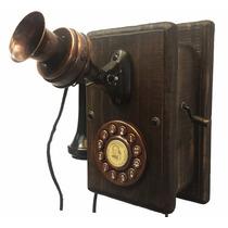 Telefone Antigo Nelphone De Parede Preto Frete Grátis