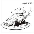 Adesivo K50 Alimentos Frango Assado