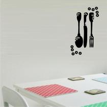 Adesivo Decorativo Cozinha Papel Parede Utensílios
