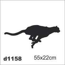 Adesivo D1158 Onça Correndo Puma Decorativo Parede Quarto