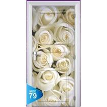Adesivo 123 Porta Quarto Sala Rosas Brancas Flores 79