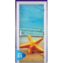 Adesivo 123 Porta Quarto Sala Praia Estrela Do Mar 83