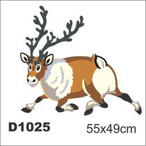 Adesivo D1025 Rena Papai Noel Natal Criança Decorativo
