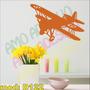 Adesivo Decorativo Mod D122 Avião Infantil Quarto Voando
