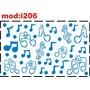 Adesivo I206 Notas Musicais Animadas Quarto Menino Menina