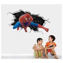 Adesivo Infantil Parede Herois Avengers Vingadores Buraco 3d