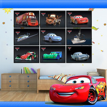 Quadro Decorativo De Parede Adesivo 3m Mcqueen Cars Infantil