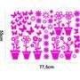 Adesivo Decorativo Parede Quarto Infantil Flores Borboletas