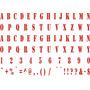 Adesivo Az03 Alfabeto Cartela Fonte Army Infantil Decoração