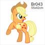 Adesivo Parede Menina My Little Poney Pony Applejack Br043