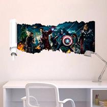 Adesivo Decorativo Parede Super Herois 3d Pronta Entrega