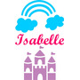 Adesivo Decorativo Parede Infantil Castelo Princesa - Nome