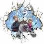 Adesivo Papel De Frozen Buraco 3d, Ana, Olaf E Amigos