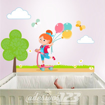 Adesivo 123 Parede Decorativo Bebe Infantil 39 Menina Balao