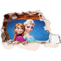 Adesivo 123 Decorativo Parede Buraco 3d Mod 95 Elsa Frozen