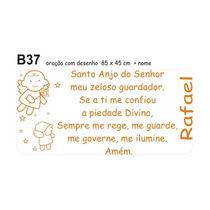 Adesivo Infantil Oração Santo Anjo Decorativo Bebê Quarto