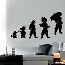 Adesivo Decorativo - Dragon Ball Z - Evolução Goku - 91x47cm