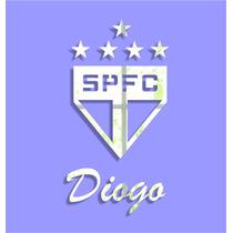 Espelho Acrílico Adesivo 3d - Times De Futebol - São Paulo