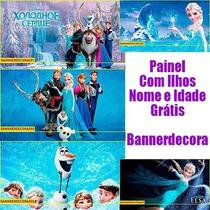Painel Para Festa Infantil Frozen, Ben10, Princesas E Outros