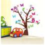 Adesivo Decorativo Parede Infantil Árvore Borboleta + Brinde