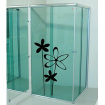Adesivo Decorativo Parede Box Vidro Banheiro Flor Floral