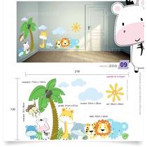 Adesivo De Parede Infantil Quarto Bebê Árvore Zoo 09