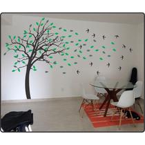 Adesivo Parede Árvore Galhos Folhas Gigante 3,2metros X 2,10