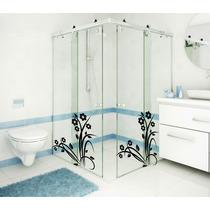 Adesivo Decorativo Parede Banheiro Box Vidro Floral Flores