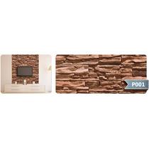 Adesivo De Parede Textura De Pedra Marmore Tijolo Rln123