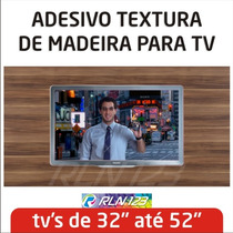 Adesivo De Parede Painel Tv Lcd Led Textura Madeira Rln123