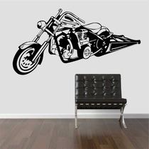 Adesivo Decorativo Parede Sala Moto Motoqueiro Harley