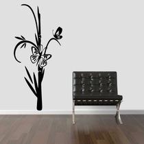 Adesivo Decorativo Parede Floral Borboleta Galho Árvore Flor