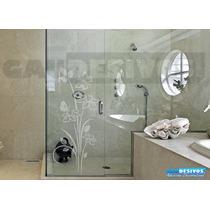 Adesivo Decorativo De Parede Jateado Box Vidro Espelho +