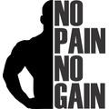 Adesivo Parede No Pain No G.. Academia 108x98cm Frete Grátis