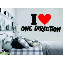 Adesivo Decorativo Parede Música I Love One Direction