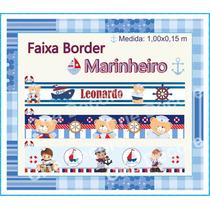 Adesivo Decorativo Parede Faixa Border Marinheiro