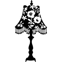 Adesivo De Parede Decorativo Abajur Florido