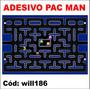Adesivo Digital Jogo Pac Man Video Game 1,30x 90 Cm Will186