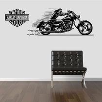 Adesivo Decorativo Parede Moto Motoqueiro Harley Davidson