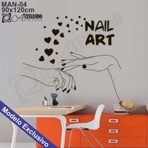 Adesivo Decorativo De Parede - Manicure Cabeleireiro - Man04