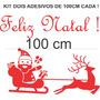 Adesivos Decorativos Natal Noel Vitrine Loja Vidro Parede