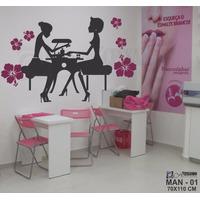 Adesivo Decorativo De Parede - Manicure Cabeleireiro - Man01
