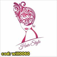 Adesivo Parede Salão De Beleza Mulher Cabelo Rosto Will0060