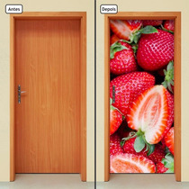 Adesivo Decorativo De Porta - Morango - Frutas - 072mlpt