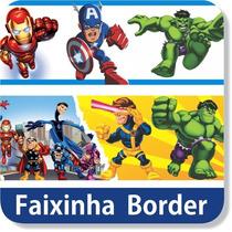 Adesivo De Parede Decorativo Faixa Border Super Hero Squad