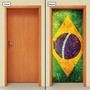 Adesivo Decorativo De Porta - Bandeira Brasil - 169mlpt