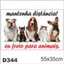 Adesivo Decorativo Divertido Mantenha Distância D344