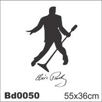 Adesivo Bd0050 Elvis Presley Rock Decoração Parede