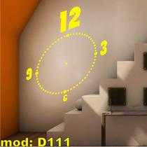 Adesivo D111 Relógio De Enfeite Adesivo Parede Decoração